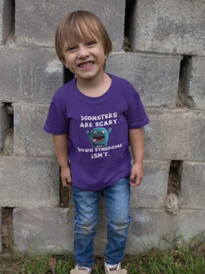Monsters are Scary. Down Syndrome Isn't Kids T-Shirt