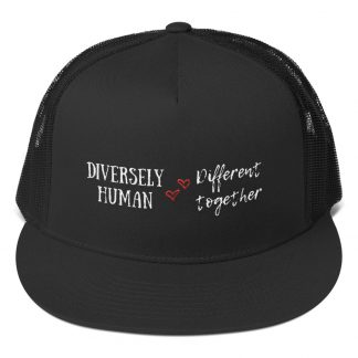 Diversely Human Logo Embroidered Trucker Cap