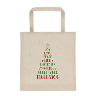 Positive Vibes Christmas Tree Canvas Tote bag