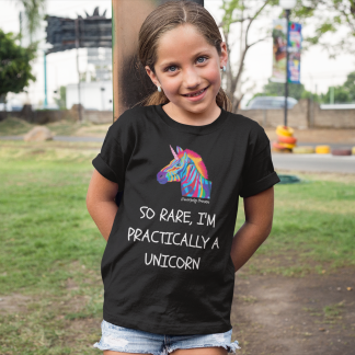 So Rare, I'm Practically A Unicorn Kids T-Shirt