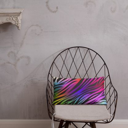 Rare Disease Zebra Rainbow Throw Pillow