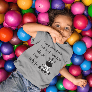 Rare Diseases are not always black and white Kids T-Shirt