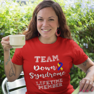 Team Down Syndrome Lifetime Member T-Shirt