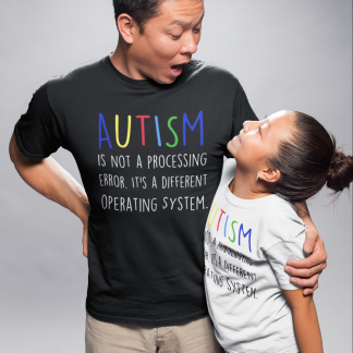 Autism is not a processing error Kids T-Shirt