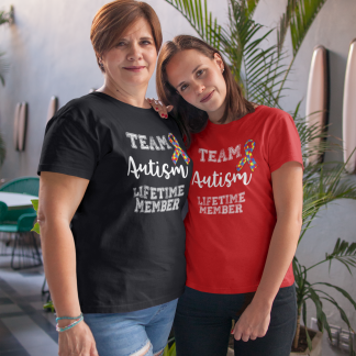 Team Autism Lifetime Member T-Shirt