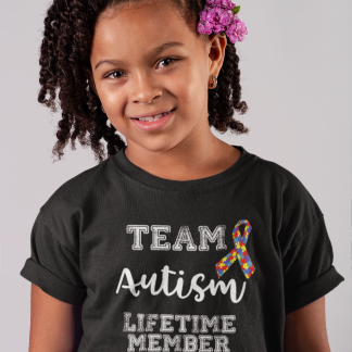 Team Autism – Lifetime Member Kids T-Shirt