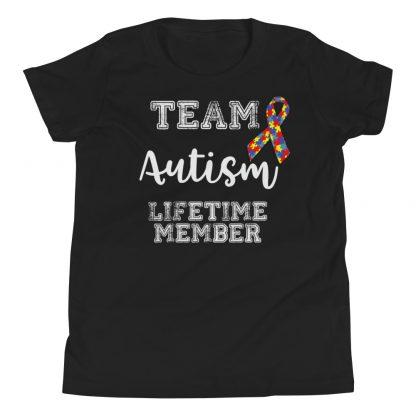 Team Autism – Lifetime Member Kids T-Shirt