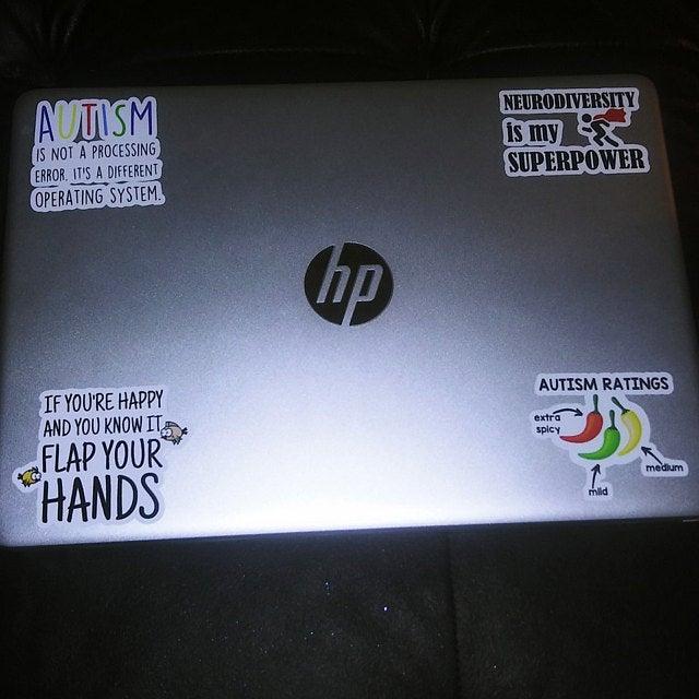 customer autism sticker pack photo