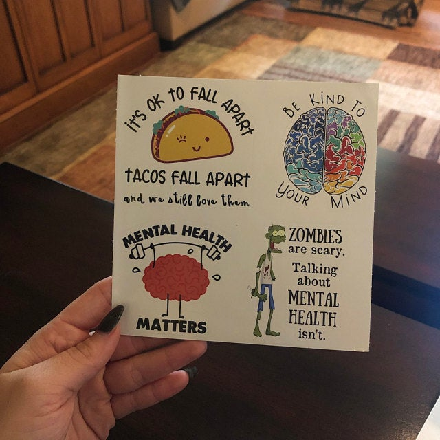 mental health sticker pack customer photo